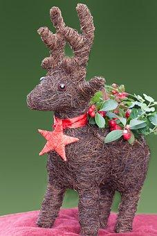 Ren, Reindeer, Hand Labor, Christmas Decorations