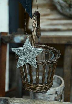 Star, Christmas, Decoration, Wood, Rustic
