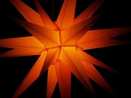 Christmas, Star, Light, Lighting, Poinsettia, Darkness