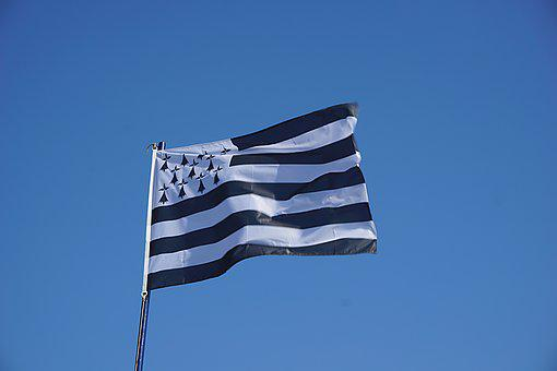 Breton, Flag, Banner, Wind, Stripes, Symbol, Sky, Sign