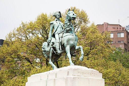 Washington, Sculpture, Statue, Bronze, Monument, Travel