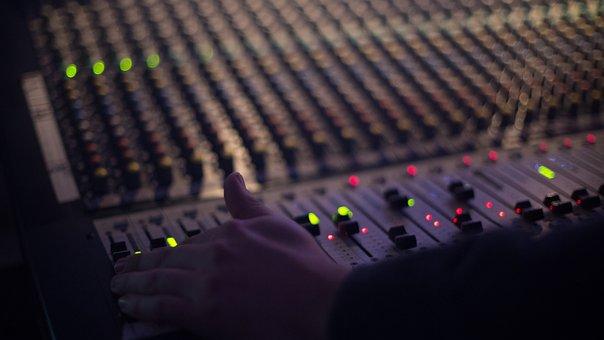 Audio, Technology, Mixer, Volume, Knob, Record, Board