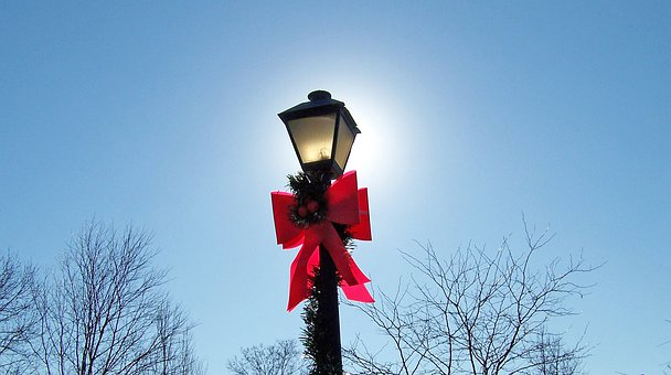 Lamp, Post, Lamppost, Christmas, Xmas, Decoration