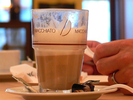 Latte Macchiato, Coffee, Cafe, Café Au Lait, Milk Cafe