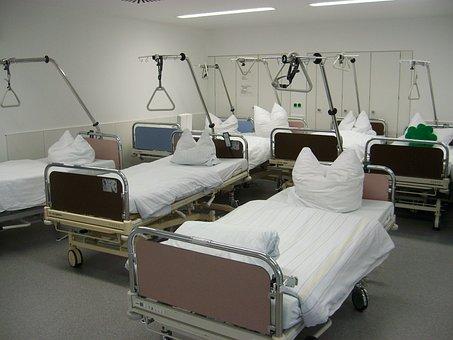 Hospital, Bedside, Beds, Ceiling, Rod, Station