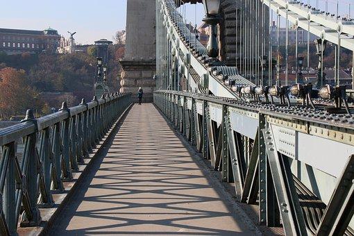 Budapest, Chain Bridge, Day Punch, Shadows