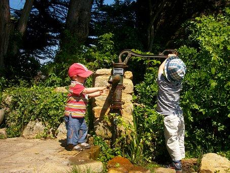 Ars, Fountain, Children, Water, The Thirst