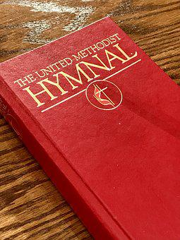 Book, Red, Cover, Hymnal, Church, Umc, Methodist