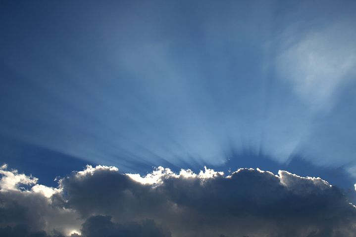 Cloud, Sky, Sun Behind Cloud