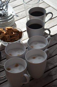 Coffee, Tea, Cup, Drink, Caffeine, Heart, Aroma