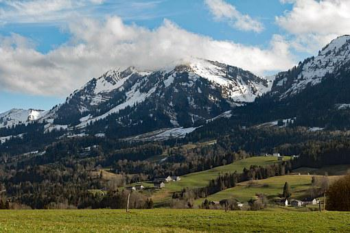 Alpine, Austria, Vorarlberg, Egg, Tobel, Mountains
