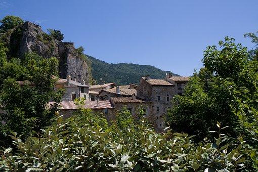 France, Chatillon-en-diois, Village, Buildings, Stone
