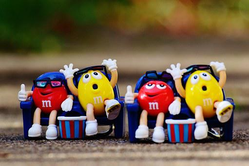 M M's, Candy, Funny, Fun, 3-d Glasses