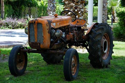 Tractor, Garden, Maintenance, Old, Oldtimer