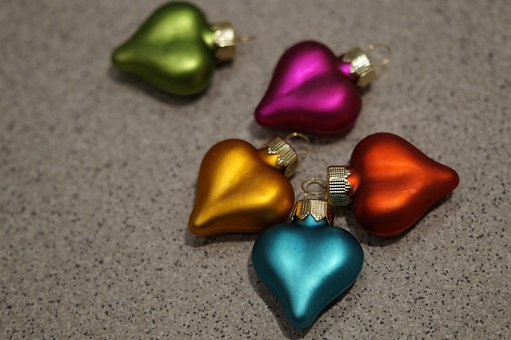 Heart, Heart Shape, Heart Shaped, Christmas Ornaments