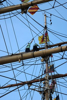 Mast, Sky, Journey, Man And Woman