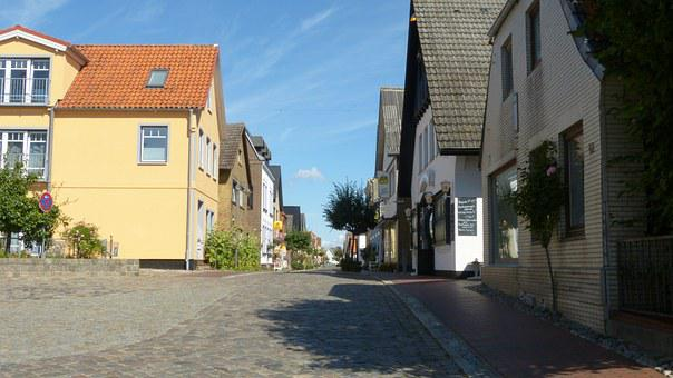 Maasholm, Schlei, Germany, Mecklenburg, Road, Summer