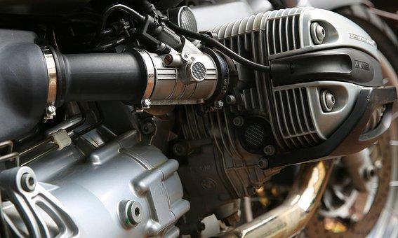 Motorcycle, Motor, Cylinder, Shiny, Reflection