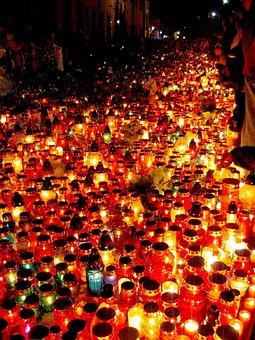 Candles, Kraków, Pope John Paul Ii, Pope, Pope's Window