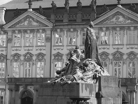 Jan Hus Monument, Prague, Sculpture, Historic Center
