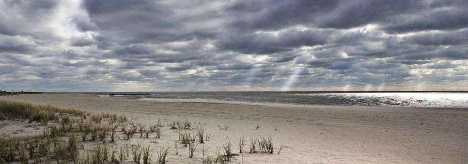 Cape May Nj, Cape May Nor'easter, Seascape, Sand, Beach