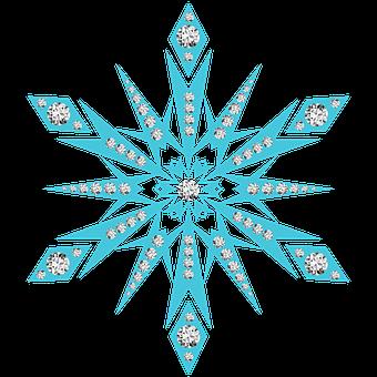 Snow Flake, Snowflake, Diamonds, Snowing, Snow