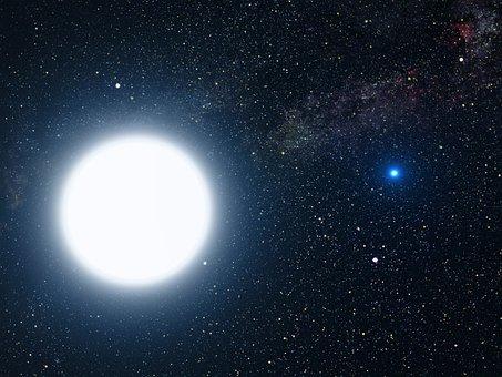 Star, Sun, White Dwarf, Star System, Binary, Sirius A