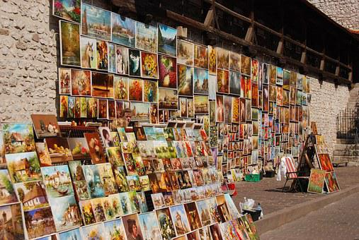 Painting, Art, Artistic, Street Sales, Krakow, Poland