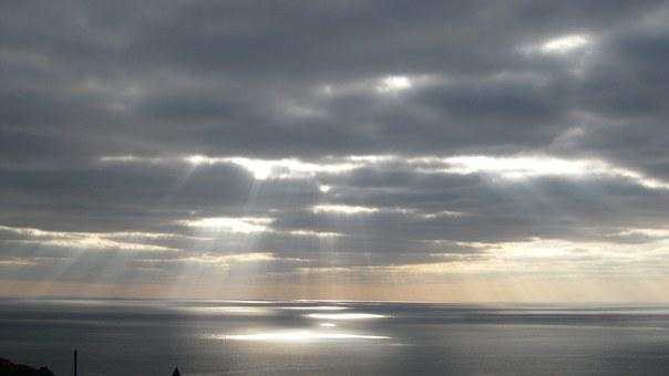 Sunset, Sky, Gloomy Sky, The Reflections Of The Sun