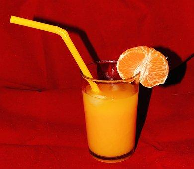 Orange Juice, Glass, Frisch, Healthy, Vitamin C, Drink