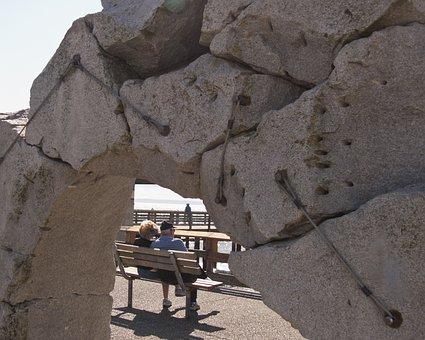 Sculpture, Elderly, Couple, Des Moines, Wa, Boardwalk