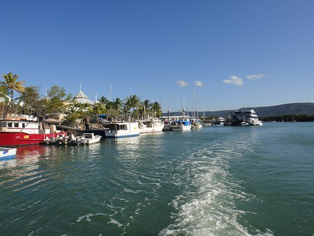 Australia, Port, Boats, Water, Port Douglas