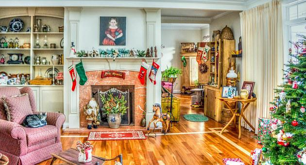 Traditional Home, Decorations, Christmas, Xmas, Holiday