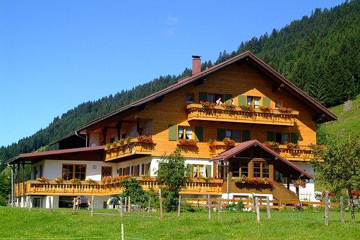 Balderschwang, Alps, Hut, Restaurant, Guesthouse