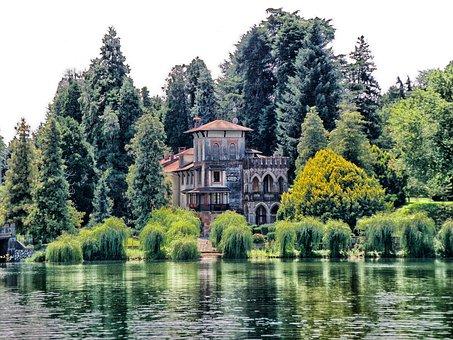 Sesto Calende, Italy, Villa, House, Home, Architecture