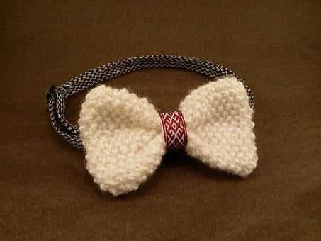 Bow Tie, Knitted, Bow, Tie, Fashion, Knit, Winter, Gift