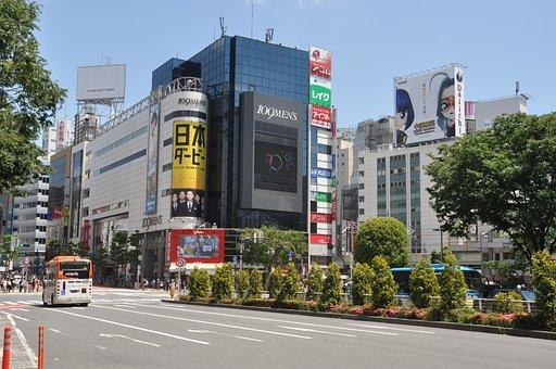 City, Street, Buildings, Traffic, Scene, Tokyo
