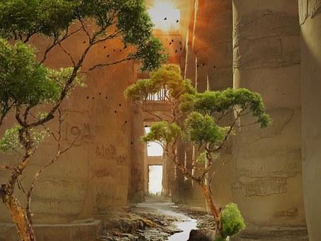 Desert, Building, Stone, Old, Egypt, Kings