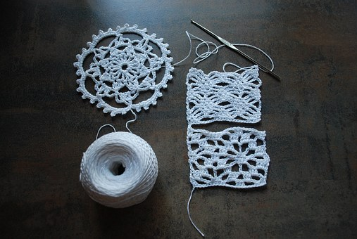 Cotton, Hook, Example, Craft, White, Hobby, Crochet