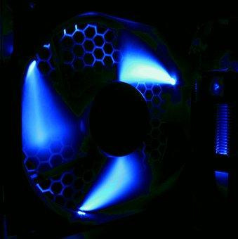 Fan, Fan Housing, Pc, Edp, Computer, Technology, Blue