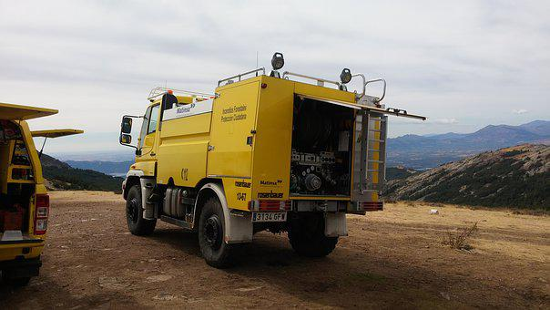 Truck, Fire, Forest, Fire Prevention