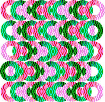 Geometric, Design, Colorful, Pink, Green, Emerald, Lime