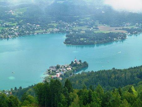 Lake Wörth, Lookout Tower, Lake, Peninsula Austria