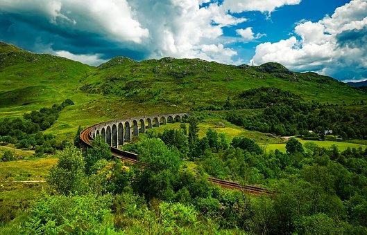 Scotland, Viaduct, Landscape, Scenic, Landmark