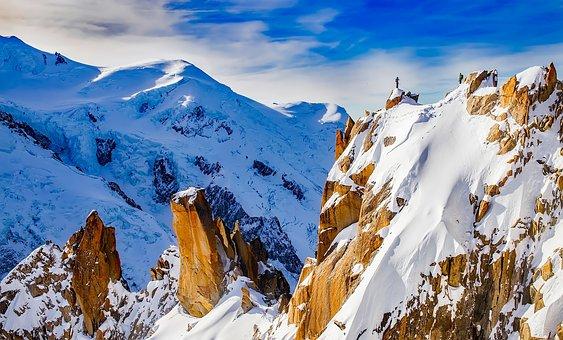 Mountains, Mountain Climbing, Figures, Chamonix, France