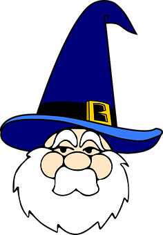Wizard, Man, Old, Blue, Hat, Mystery, Magical, Costume