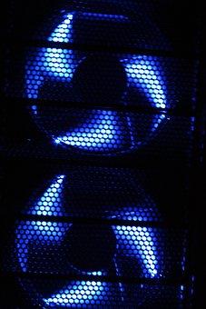 Fan, Pc, Fan Housing, Edp, Computer, Two, Blue