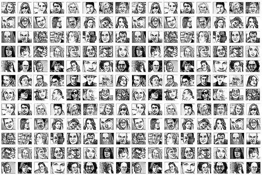 Photomontage, Faces, Photo Album, World, Population