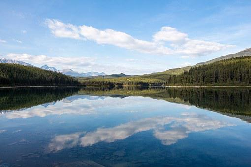 Patricia Lake, Reflection, Canada, Jasper, Lake