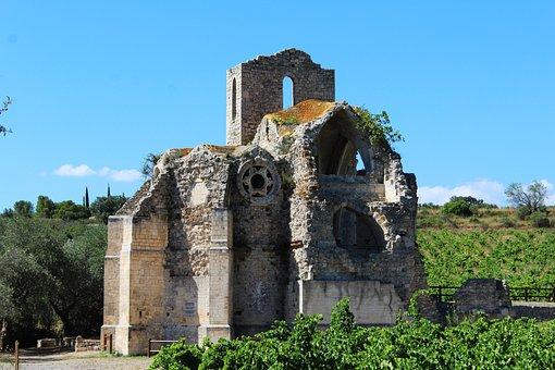 Church, Cathar Church, Ruin, Pierre, Remains, Heritage